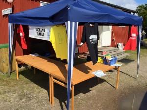 Försäljning av t-shirts m.m. för bevarandet av Backamo Lägerplats